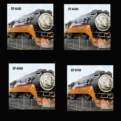 Steam Engine Coaster Set of 4