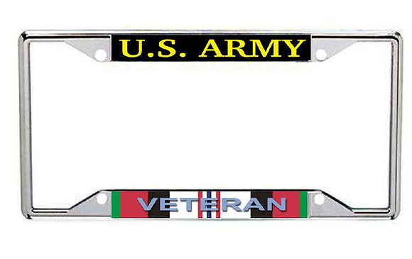 Afghanistan Veteran US Army Metal License Frame