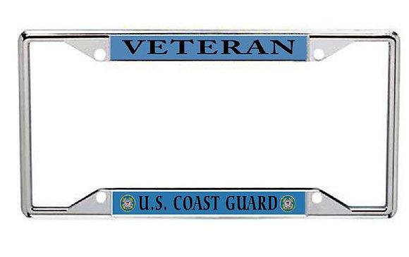 Veteran US Coast Guard Metal License Frame