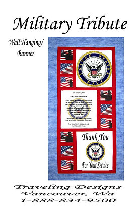 Military Tribute to US Navy Wallhanging Quilt Kit