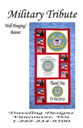 Military Tribute to US Coast Guard Wallhanging Quilt Kit