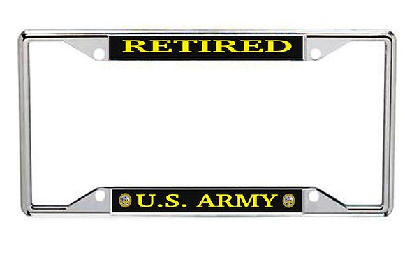 Retired US Army Metal License Frame