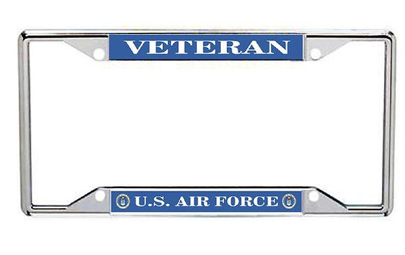 Veteran US Air Force Metal License Frame