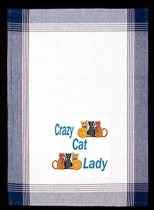 """""""Crazy Cat Lady"""" Tea Towel"""