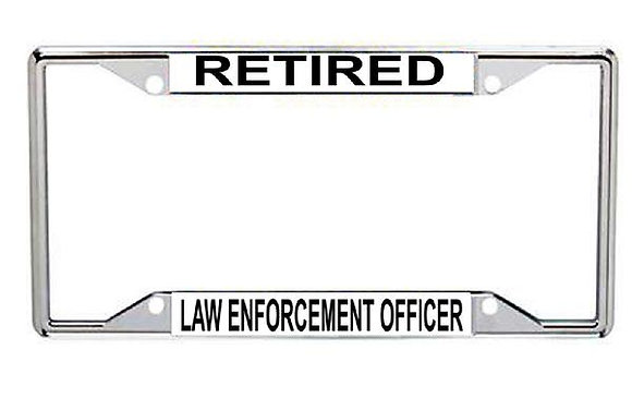 Retired Law Enforcement Officer Metal License Frame