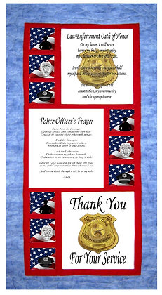Police Officer Tribute Cotton Panels and Pattern Kit