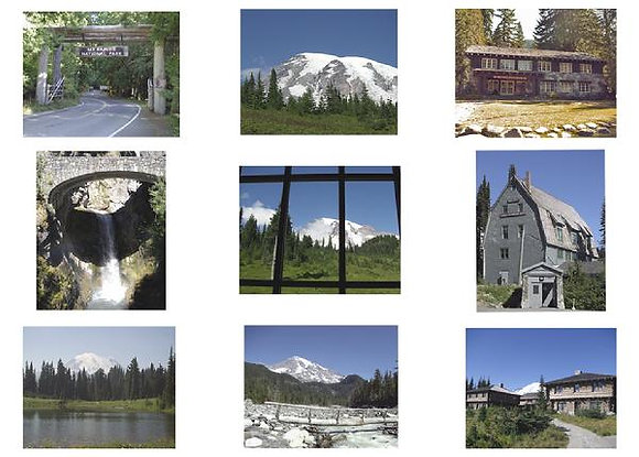 Mt. Rainer National Park Photo Quilt Square