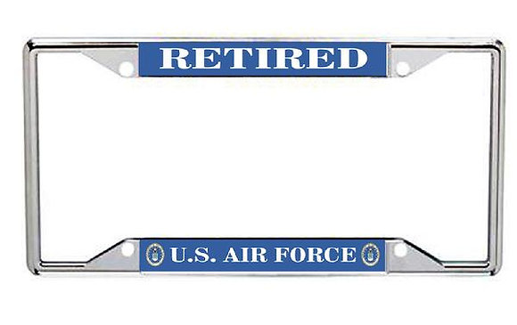 Retired US Air Force Metal License Frame