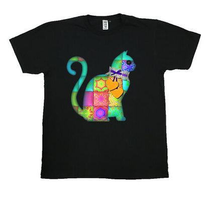 Quilted Cat Crew Neck Unisex T-Shirt