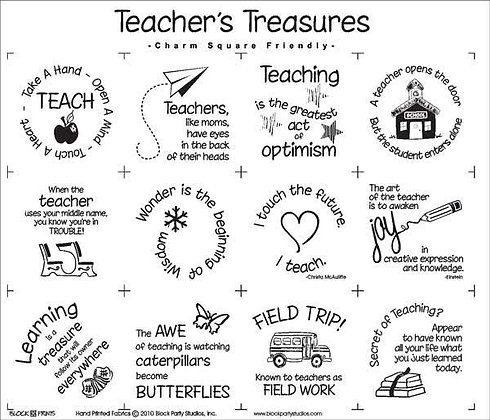 Block Party Teacher's Treasures Panel