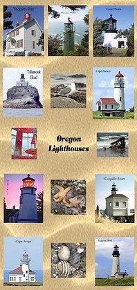 Oregon Lighthouse Photo Panel