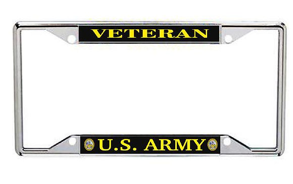 Veteran US Army Metal License Frame