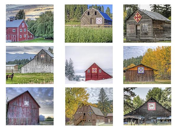 Quilt Barns of Kittitas County #3 Photo Quilt Squares