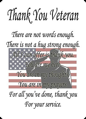 Thank You Veteran For Your Service Banner Panel