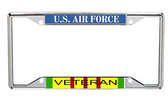 Vietnam Veteran US Air Force Metal License Frame