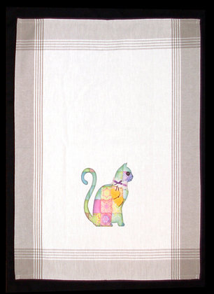 Quilted Cat Tea Towel
