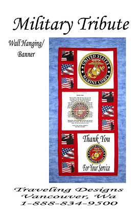 Military Tribute to US Marine Corps Wallhanging Quilt Kit