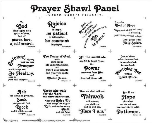 Block Party Prayer Shawl Panel