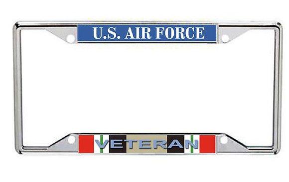 Iraq Veteran US Air Force Metal License Frame