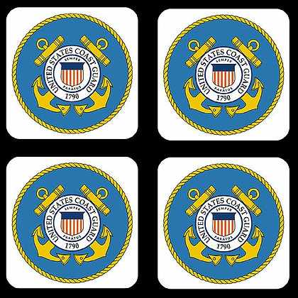 US Coast Guard Coaster Set of 4