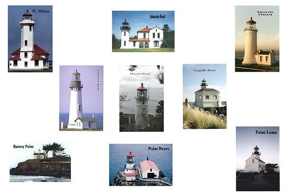 Pacific Coast Lighthouses Quilt Kit