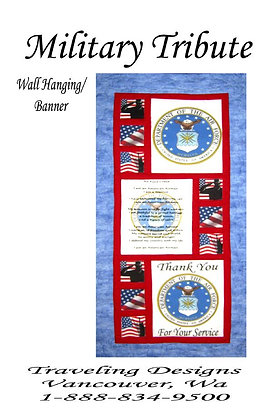 Military Tribute to US Air Force Wallhanging Quilt Kit