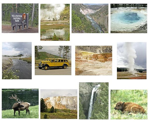 Yellowstone National Park Photo Quilt Squares