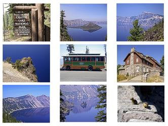 Crater Lake National Park Photo Quilt Squares