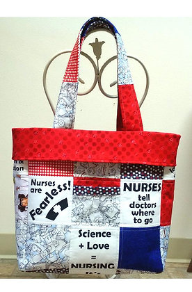 Block Party Nurse's Tote Bag Pattern and Panel