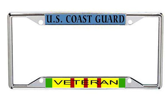 Vietnam Veteran US Coast Guard Metal License Frame