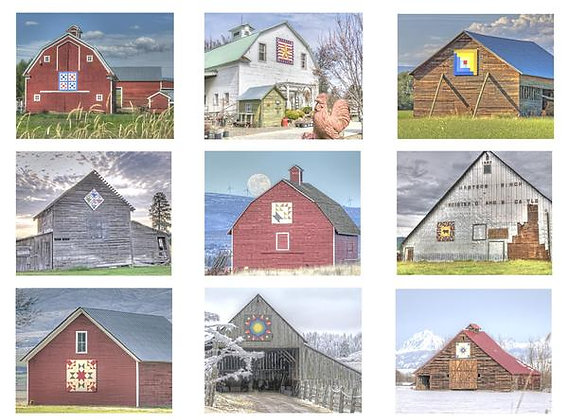 Quilt Barns of Kitties County #1 Photo Quilt Squares