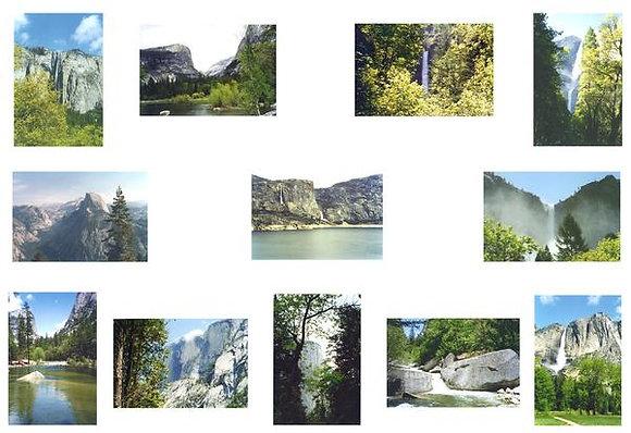 Yosemite National Park Photo Quilt Squares