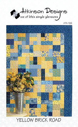 Yellow Brick Pattern with Block Party Psalms 1, 2 & 3 Panels