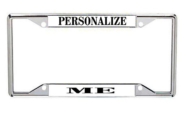 Personalized  Metal License Frame