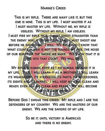U.S. Marine Corps Creed