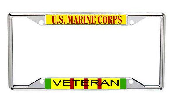 Vietnam Veteran US Marine Corps Metal License Frame