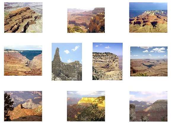 Grand Canyon National Park Photo Quilt Squares