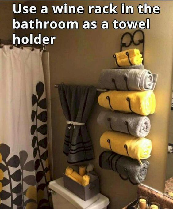 Use a Wine Rack as a Towel Holder.jpg