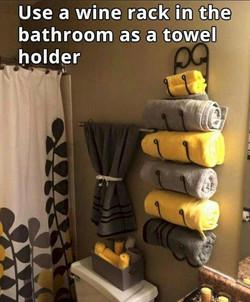 Use a Wine Rack as a Towel Holder.jpg