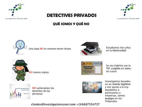Detectives privados: qué somos y qué no