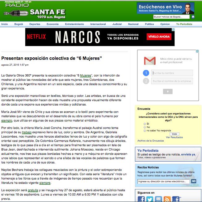 Publicación Radio SantaFe
