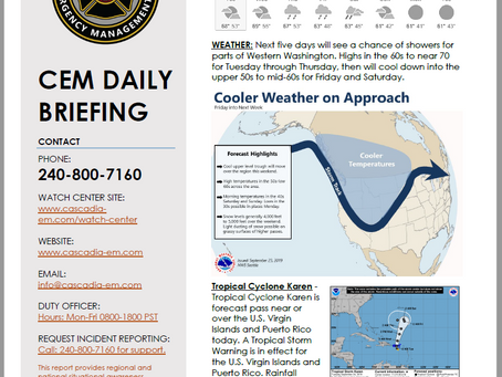 CEM Daily Briefing | 24SEP19
