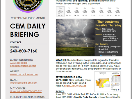 CEM Daily Briefing | 27JUN19