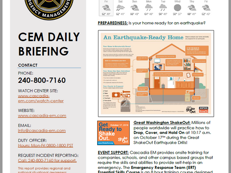 CEM Daily Briefing | 04OCT19