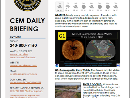 CEM Daily Briefing | 24OCT19