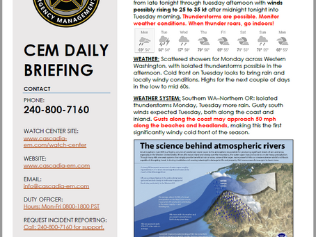 CEM Daily Briefing | 16SEP19