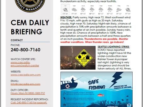 CEM Daily Briefing   13SEP19