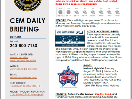 CEM Daily Briefing | 05AUG19