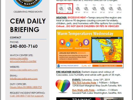 CEM Daily Briefing | 12JUN19