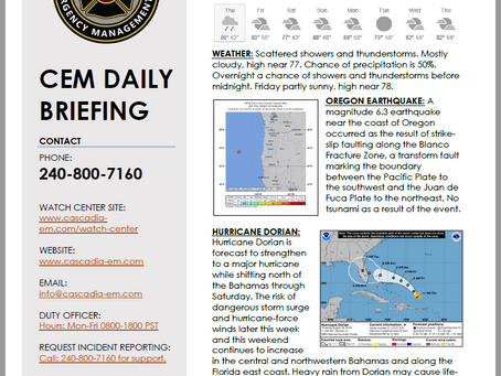 CEM Daily Briefing   29AUG19